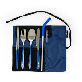 MIZU Urban Cutlery Set, azul/Plateado